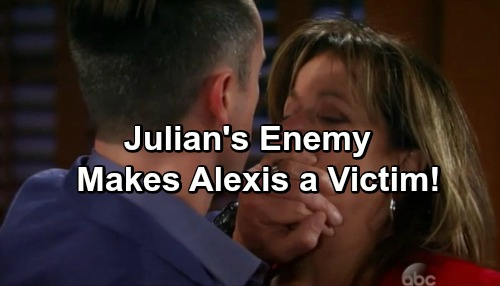 General Hospital Spoilers: Alexis Caught in the Crossfire When New Mobster Goes After Julian, Her New Houseguest