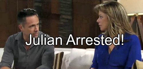 General Hospital (GH) Spoilers: Julian Arrested for Carlos Murder – Alexis Gives Bloody Shirt to Jordan, Dagger Found