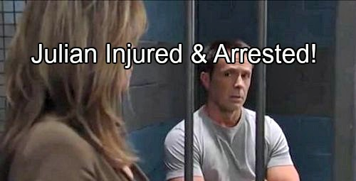 'General Hospital' Spoilers: PCPD Raid House to Save Alexis - Julian Wounded and Arrested