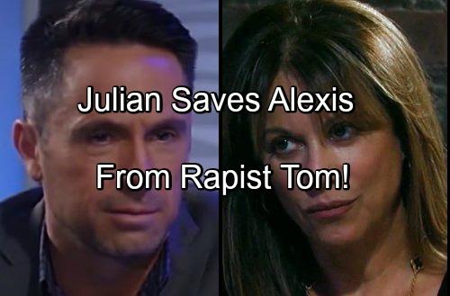 'General Hospital' Spoilers: Alexis Spends Night with Rapist Tom - Julian Saves Her From Violent Stalker