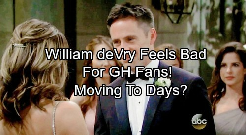 General Hospital Spoilers: William deVry Feels Bad for GH Fans – Close to Joining Days?