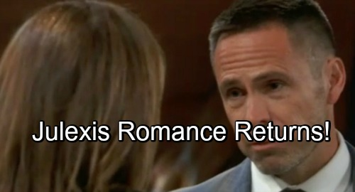 General Hospital Spoilers: Julexis Romance Returns - Julian and Alexis' Bring Back Hot Spark?