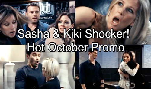 General Hospital Spoilers: Hot New Promo - October Surprises - Sasha Fights Kiki For Griffin - Carly Panics - Kim Slaps Alexis