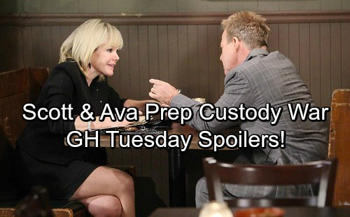 General Hospital Spoilers: Tuesday, April 24 – Ava and Scott Prepare for Battle – Curtis' Big Surprise – Carly Confides in Kevin