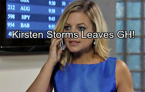 General Hospital (GH) Spoilers: Kirsten Storms Leaving Maxie Role Temporarily - Replaced by Molly Burnett?