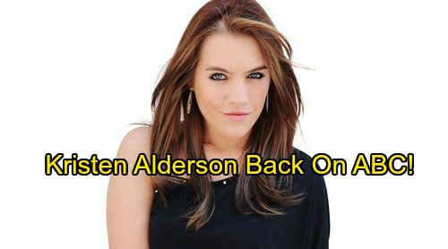General Hospital Spoilers: Kristen Alderson Returns to ABC – Airing Soon!