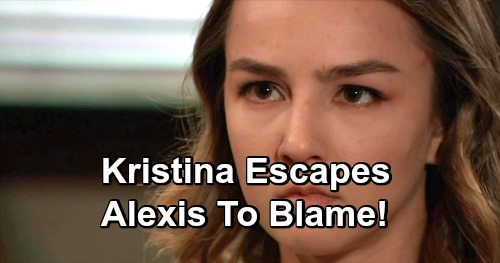 General Hospital Spoilers: 2 Weeks Ahead - Kristina Escapes, Breaks Free on Alexis' Watch