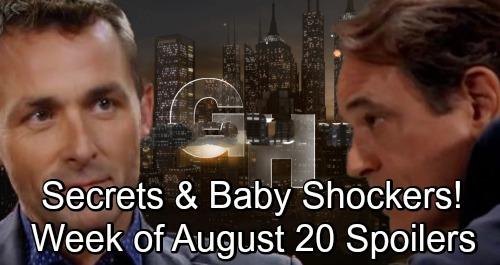 General Hospital Spoilers: Week of August 20-24 – Devastating Blows, Exploding Secrets and Baby Shockers