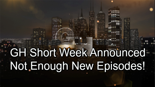 General Hospital Spoilers: GH Runs Short of New Episodes - Short Week Scheduling Announcement