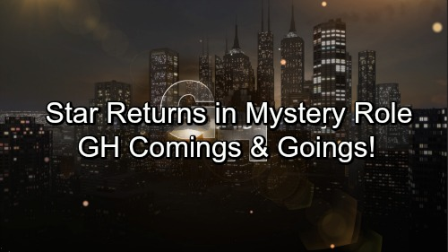 General Hospital Spoilers: Casting News – Comings and Goings – Big Returns and a Mysterious Debut – New Gig for GH Star