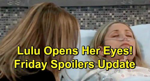 General Hospital Spoilers: Friday, January 25 Update – Sonny Steps Up for Dante – Lulu Opens Her Eyes – Ryan's Vision Result