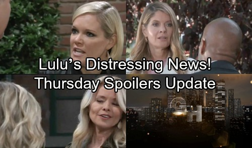 General Hospital Spoilers: Thursday, October 11 Update – Ava's Anger Bubbles Over – Lulu's Distressing News – Ryan Tackles a Crisis