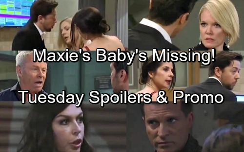 General Hospital Spoilers: Tuesday, May 22 – Maxie's Baby Missing – Jason Pulls a Gun on Peter – Robert Warns Anna's Being Killed
