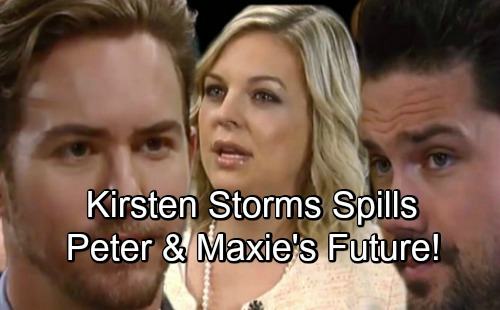 General Hospital Spoilers: Kirsten Storms Spills Maxie's Future with Peter – Dishes on Nathan's Death and Daytime Emmy Chances