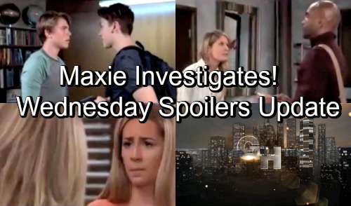 General Hospital Spoilers: Wednesday, October 3 Update – Curious Maxie Seeks Answers – Monica Joins Fight for Oscar – Nina's Outburst