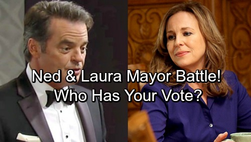 General Hospital Spoilers: Ned Takes on Laura in Mayor Battle – Who Has Your Vote?