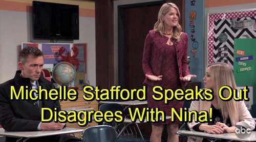 General Hospital Spoilers: Michelle Stafford Speaks Out On Irresponsible Parents and Bullying – Disagrees With Nina's Attitude
