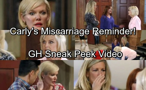 General Hospital Spoilers: GH Sneak Peek Video – Paramedics Arrive for Nelle – Carly's Reminded of Losing a Baby