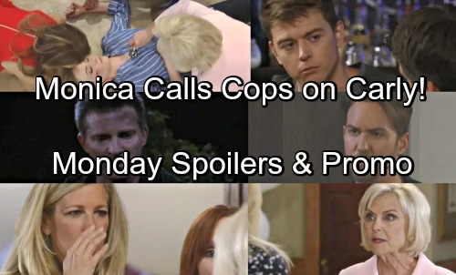 General Hospital Spoilers: Monday, May 14 – Partygoers Panic Nelle's Dying – Monica Calls Cops on Carly – Peter Shocks Valentin