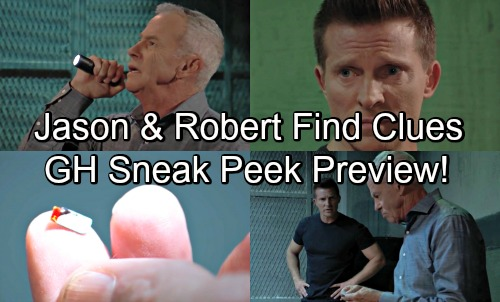 General Hospital Spoilers: GH Sneak Peek Video Preview – Jason and Robert Find Clues - Trap for Finn Leads To Mystery Patient