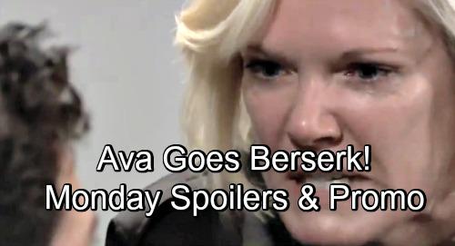 General Hospital Spoilers: Monday, December 3 – Gun-Toting Ava Goes Berserk – Sasha Gets Grilled – Jason Promises Sam