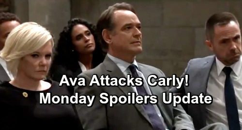 General Hospital Spoilers: Monday, December 10 Update – Ava Explodes at Kiki's Funeral, Attacks Carly – Ryan's Proud of His Work