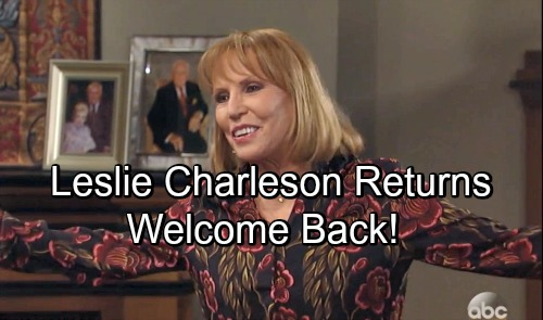 General Hospital Spoilers: Leslie Charleson Returns to GH as Monica Quartermaine - Patty McCormack Exits
