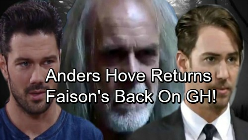 General Hospital Spoilers: Faison's Back On GH - Anders Hove Returns - Ian Buchanan Photo Leak