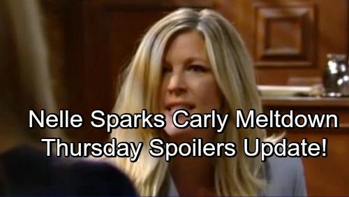 General Hospital Spoilers: Thursday, June 7 Update – Nelle Sparks Carly's Meltdown – Kiki's Desperate Mission – Ava's in the Dark