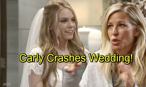 General Hospital Spoilers: Carly the Wedding Crasher – Fierce Mama Bear Interrupts Michael and Nelle's Nuptials
