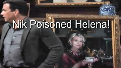 General Hospital (GH) Spoilers: Nikolas Murdered Helena - Photo Portrait Drinking Tea Evidence of Poisoning