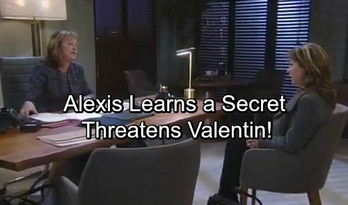 General Hospital Spoilers: Alexis Learns a Secret, Threatens Valentin With Sonny's Wrath – Demands Help Freeing Julian