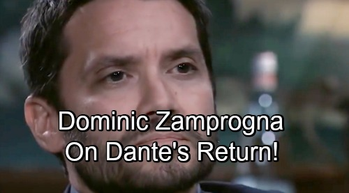 General Hospital Spoilers: Comings and Goings – Dominic Zamprogna Speaks Out on Future as Dante – Kimberly McCullough's Huge News