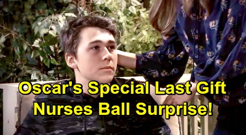 General Hospital Spoilers: Oscar's Special Gift Before Death, Q Mansion Nurses Ball Substitute - Josslyn Sings Tearful Goodbye