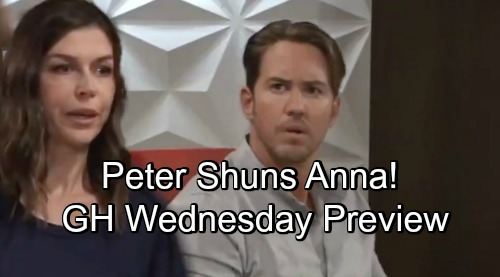 General Hospital Spoilers: Wednesday, September 5 Preview - Peter Shuns Anna, Can't Forgive Mom - Finn and Chase Make Peace