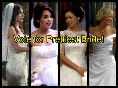 'General Hospital' Spoilers: Who Was Port Charles Prettiest Bride - Vote for Your Favorite Beauty