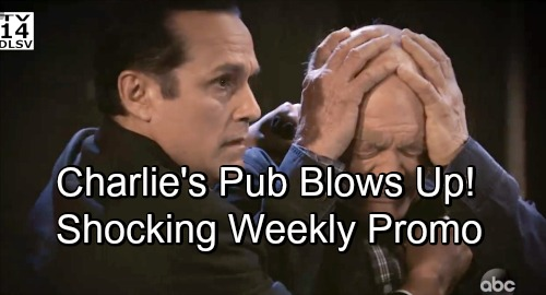 General Hospital Spoilers: New Weekly Video - Explosion Rocks Charlie's Pub - Incriminating Evidence Against Sonny Unearthed