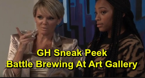General Hospital Spoilers: GH Sneak Peek – Fierce Battle Brewing at the Gallery – Laura Fears Valentin's Threat at Ava's Dramatic Auction