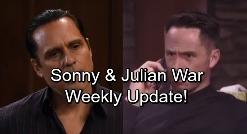 General Hospital Spoilers: Week of January 8 Update - Julian and Sonny Begin Brutal Battle – Rivals Fight for Territory