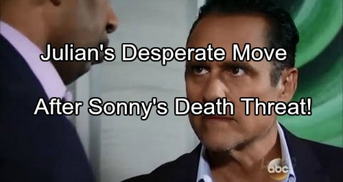 'General Hospital' Spoilers: Julian Desperate After Sonny's Jailhouse Death Threat – Evades Justice Using Alexis