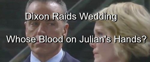 General Hospital (GH) Spoilers: Whose Blood is on Julian's Hands - Dixon Raids Wedding After Morgan Ruins Gun Deal