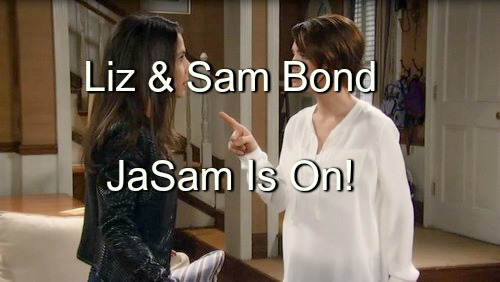 General Hospital (GH) Spoilers: Liz Confesses Lies to Sam, Blesses JaSam Union - Two Rivals Bond in Friendship
