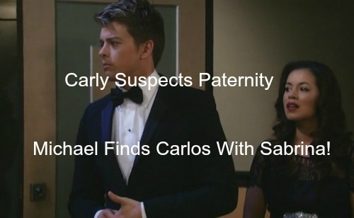 General Hospital (GH) Spoilers: Michael Finds Sabrina with Carlos - Carly Suspects Paternity - Mama Bear vs Baby Mama Showdown