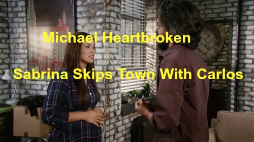 General Hospital (GH) Spoilers: Michael Wants Sabrina Back But It's Too Late, Skips Town With Carlos After Anna Visit
