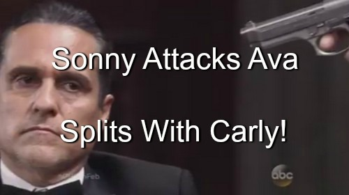 General Hospital Spoilers (GH): Sonny Unleashes Violent Rage on Ava After Avery Paternity Secret Reveal - Splits With Carly