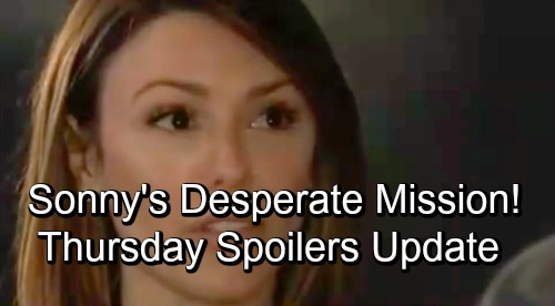 General Hospital Spoilers: Thursday, November 15 Update – Sonny's Desperate Mission – Carly's Major Murder News – Hayden's Surprise