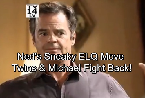 General Hospital Spoilers: Ned's Sneaky Move For ELQ Control - Twins Team Up With Michael To Fight