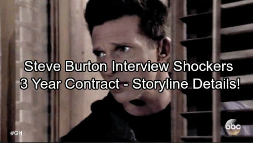 General Hospital Spoilers: Steve Burton Talks Three-Year Contract and Beyond – Offers Details About His Hot GH Storyline