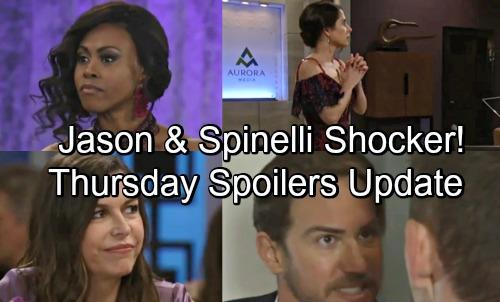 General Hospital Spoilers: Thursday, May 17 Update – Jason and Spinelli Face Peter Bombshell – Danger for Anna – Curtis Stuns Jordan