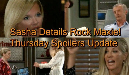 General Hospital Spoilers: Thursday, October 4 Update – Ava Provokes Carly's Wrath – Sasha Details Rock Maxie – Chase Plays Peacemaker